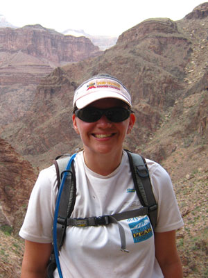 Daiva Cooper - Grand Canyon rim to rim run - October 2010