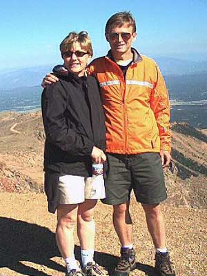 Dan Smith - Me and Cathy on Pikes Peak 2002--when I decided to run the Ascent