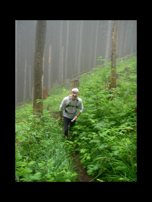 Doug Powell - Mile 6-ish into 22 mile, 12,000' vertical run on Tiger Mt, WA