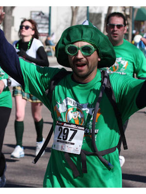 John Payne - Used the 5k on St. Patricks day as the last 3 of an 18 mi.