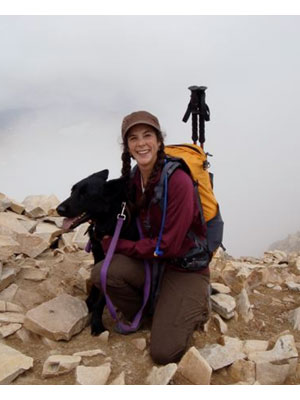 Lauren Bynum - Kodiak and I at the top of Mt. Sherman in July, 2009.