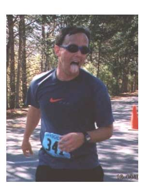 Steve Sargeant - At the finish line of the 2002 Lake Tahoe Marathon