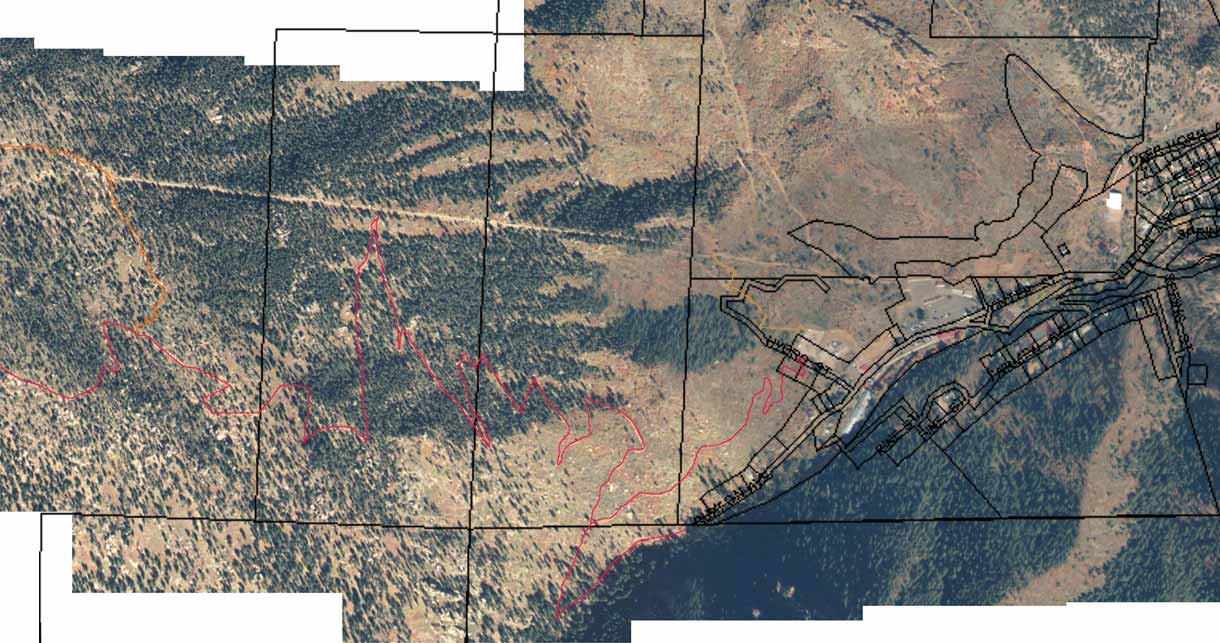 Incline - Satellite  view with property lines
