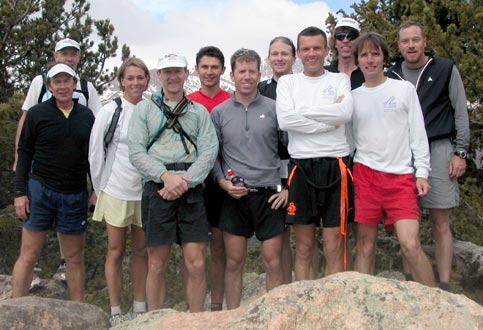 May 4, 2003 - ICers on the summit of 10,707' Camerons Cone