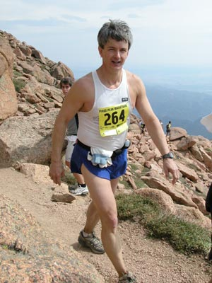 Bill Ransom - Yee-ha!!  Made it to the top!  13.1 to go...