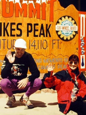 Duane Rorie - Me and my Mom after my first Pikes Peak Ascent in 1996