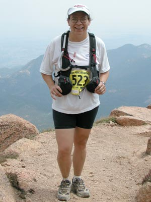 Jackie Burhans - Smiling due to attack of Altitude Stupidity
