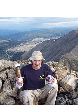 Jon Teisher - PBR and stogies on the summit of Mt. Lincoln