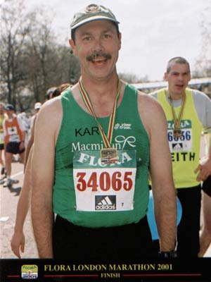 Karl Schab - First Race--London Marathon 2001