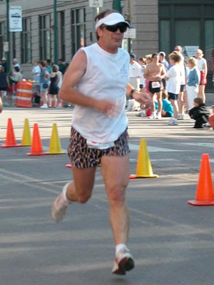 Larry Miller - Running Sailing Shoes 10K in 2002