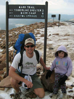 Lee Moss - Me and 7 yr old Mackenzie summited in 2 days!!!