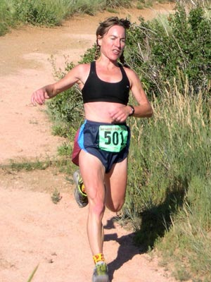 Nancy Hobbs - At the Summer Round up Run 2004