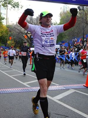 Bob Alexander - 2010 NYC Marathon 10 months after Open-Heart Surgery