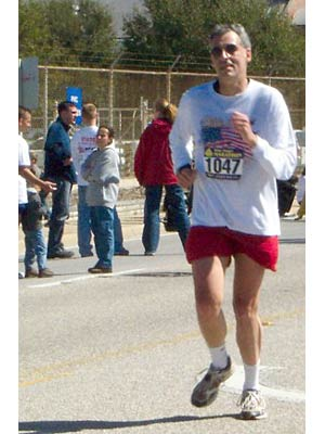 Tom Kelley - Completing  the Blue Angel Marathon, Pensacola, Fla., Feb. 28, 2004