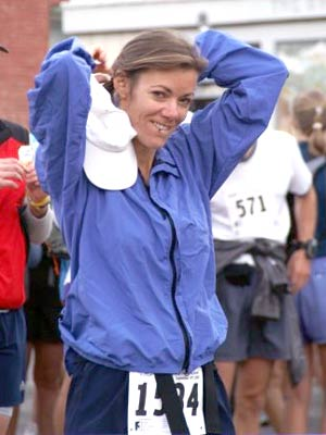 Valerie Prothe - Final preps for the Imogene Pass Run start - 2005